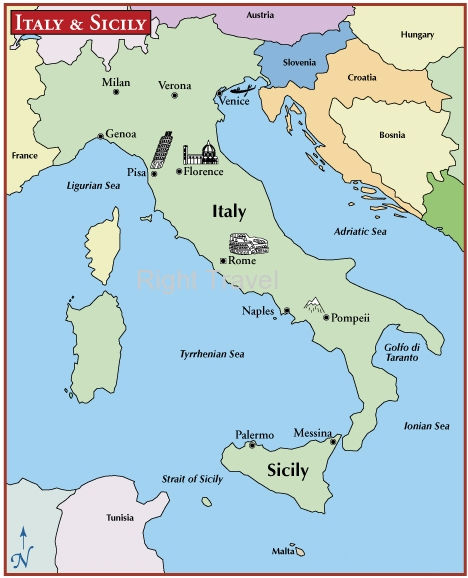 Italy Map | Italy Location | Map of Rome