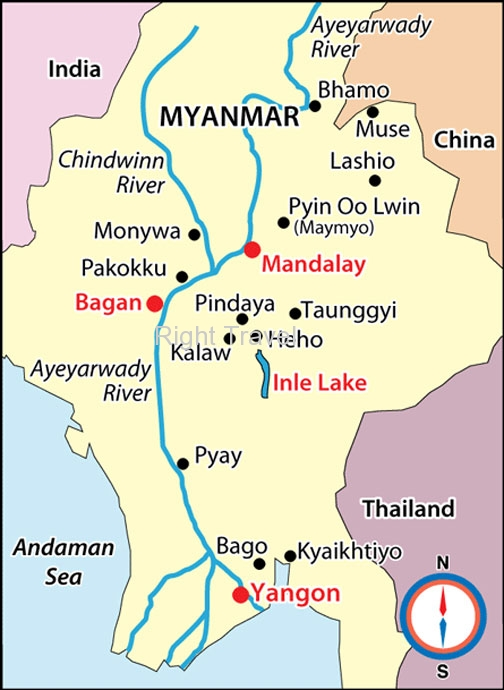 Myanmar Map Map Of Myanmar