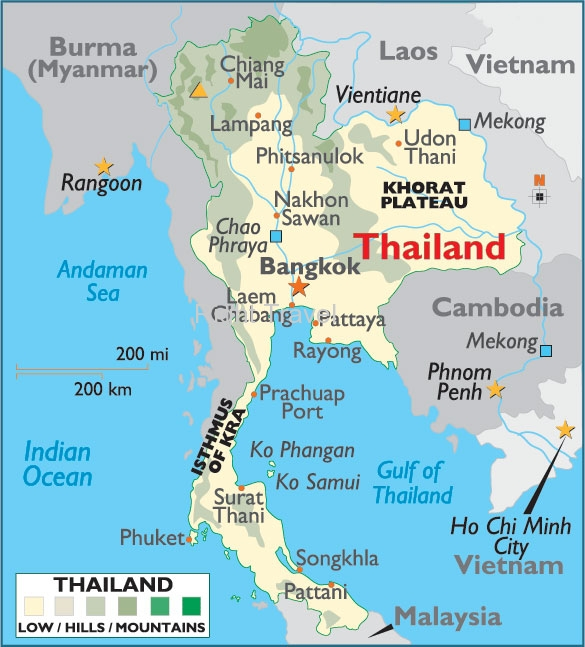 Lampang Thailand Map.Thailand Map Map Of Thailand Bangkok Location