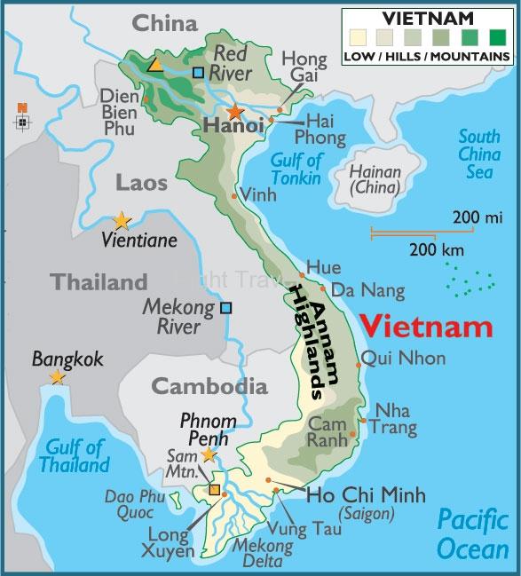 Mountains In Vietnam Map.Vietnam Map Vietnam Location