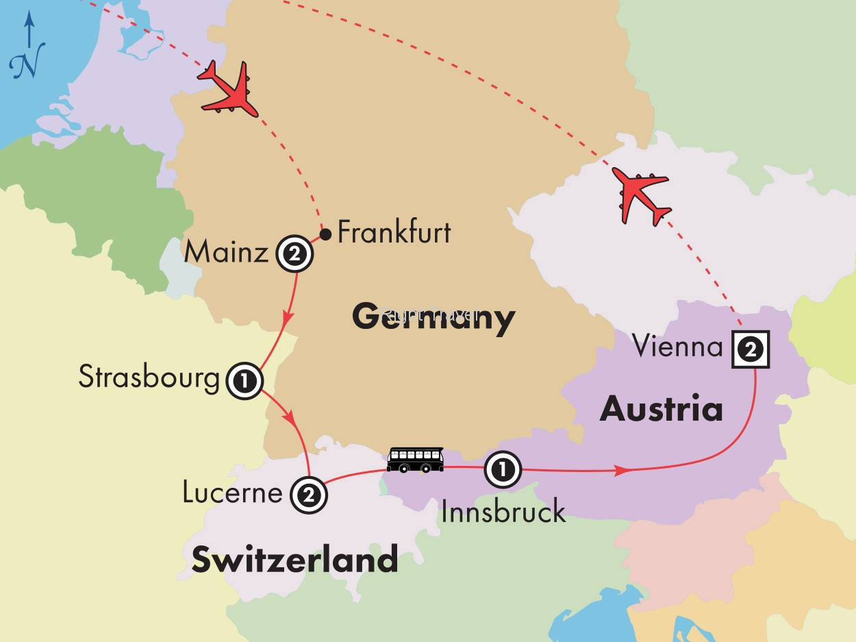10 Day Affordable Germany, France, Switzerland & Austria