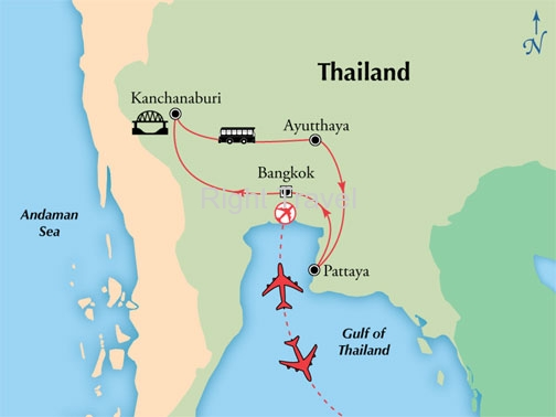 10 Day Central Thailand with River Kwai & Pattaya
