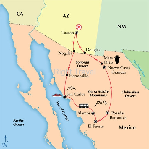 10 Day Copper Canyon: Mexico & Tucson
