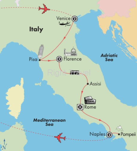 11 Day Affordable Italy with Naples