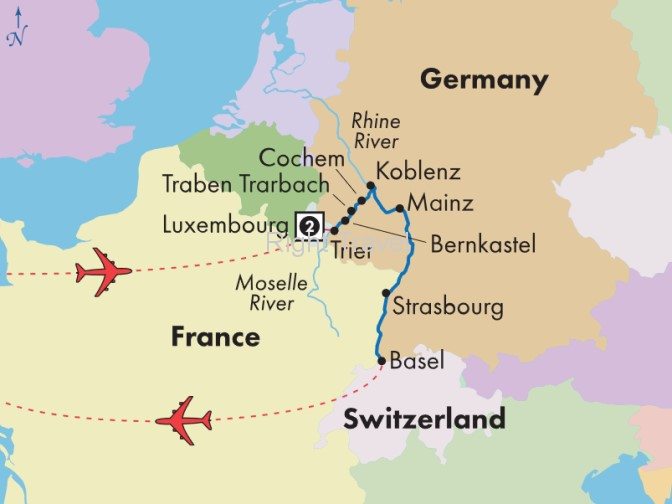 11 Day Moselle & Lower Rhine River Cruise with Luxembourg