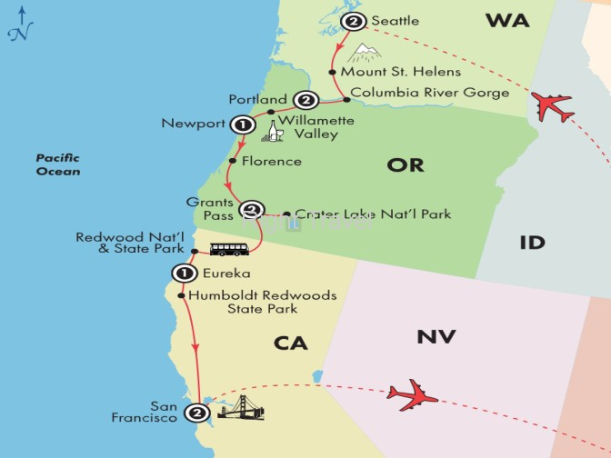 11 Day Pacific Northwest with Columbia River Gorge & Seattle