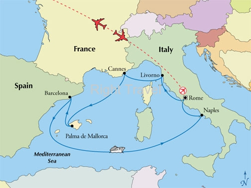 11 Day Rome with 7 Day Western Med Cruise