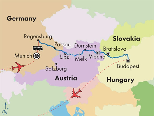 12 Day Danube River Cruise with Munich