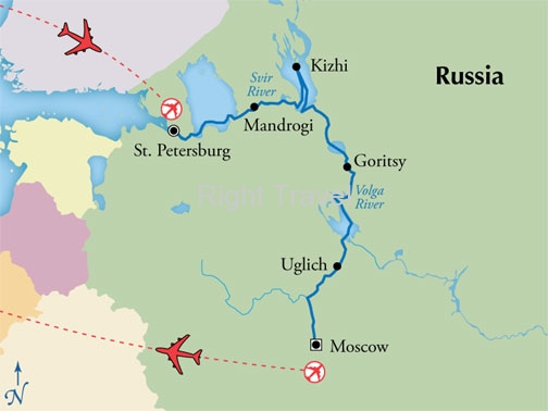 12 Day First Class Russian River Cruise with St. Petersburg & Moscow