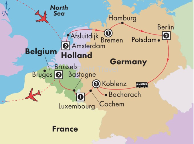 12 Day Holland, Germany, Luxembourg & Belgium