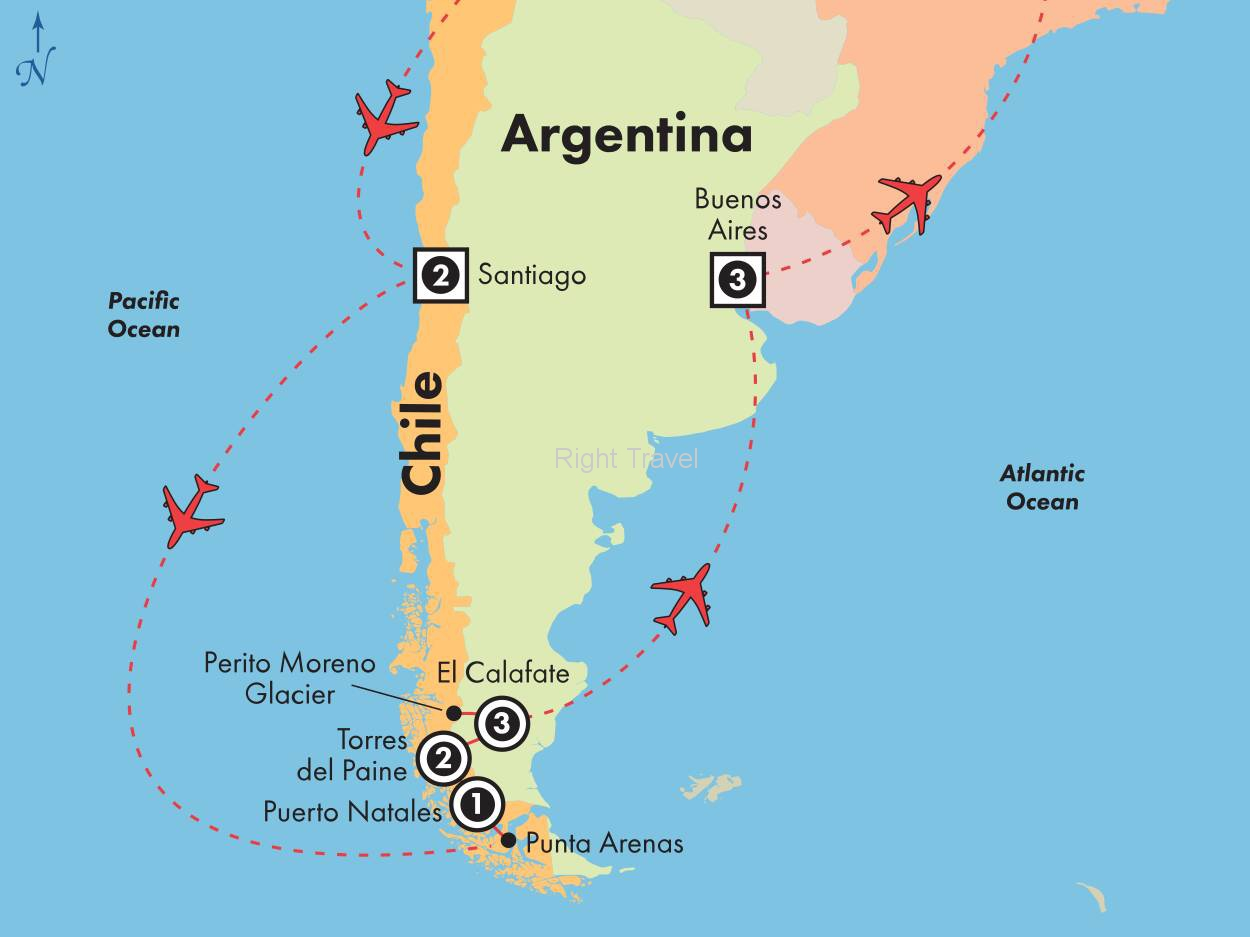 13 Day Chile & Argentina with Patagonias Glaciers