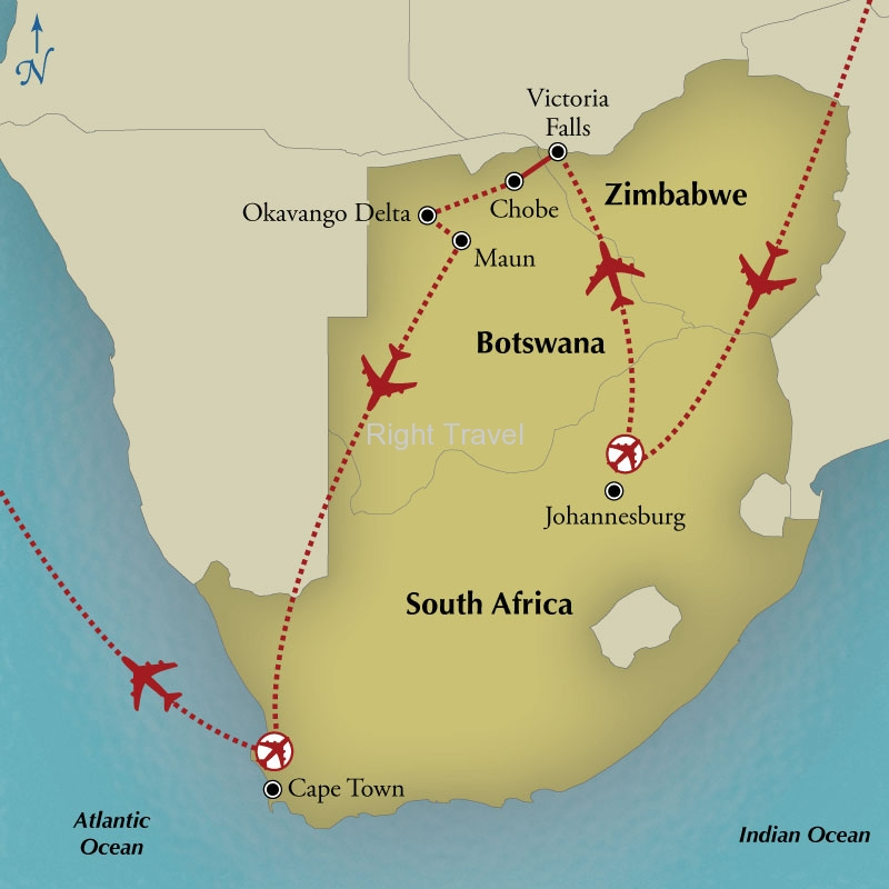 13 Day Zimbabwe, Botswana & South Africa Adventure