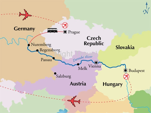 14 Day Danube River Cruise with Budapest & Prague Tour