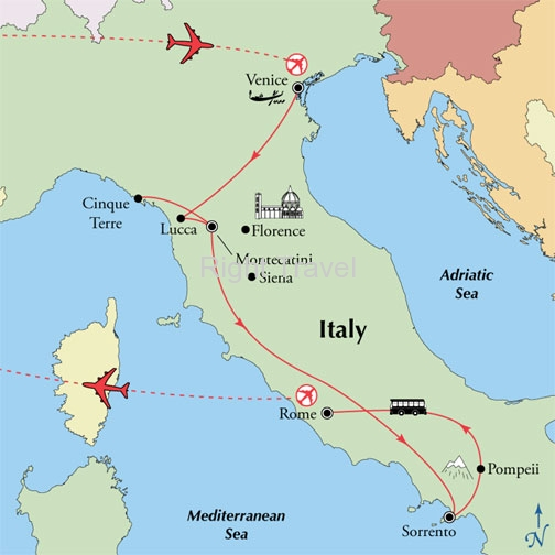 14 Day Tuscany & Amalfi with Venice & Rome