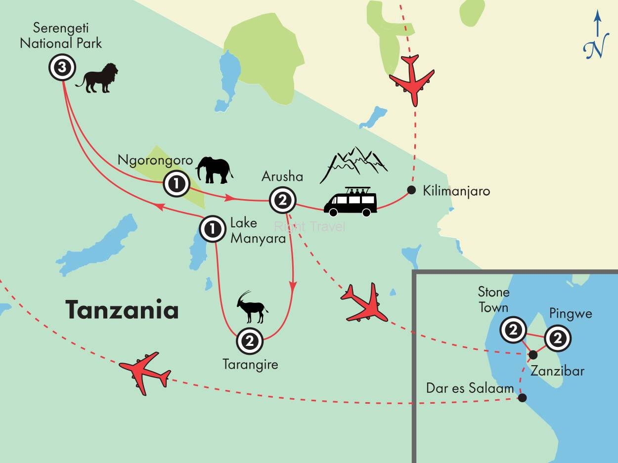 15 Day The Serengeti & Beyond: A Tanzania Safari with Zanzibar