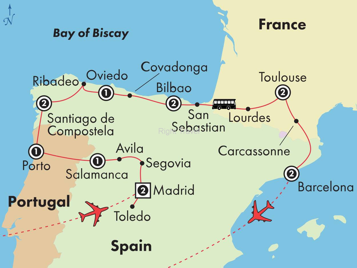 15 Day Northern Spain, Portugal & France