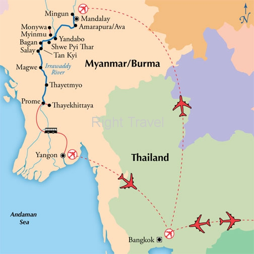 15 Day Burma (Myanmar) with 9 Day World Class River Cruise