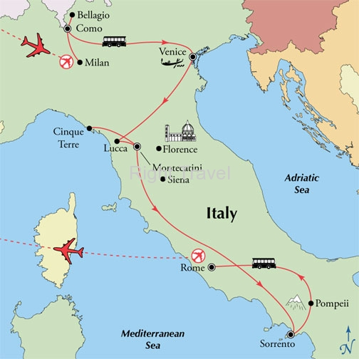 16 Day Tuscany & Amalfi with Como, Venice & Rome