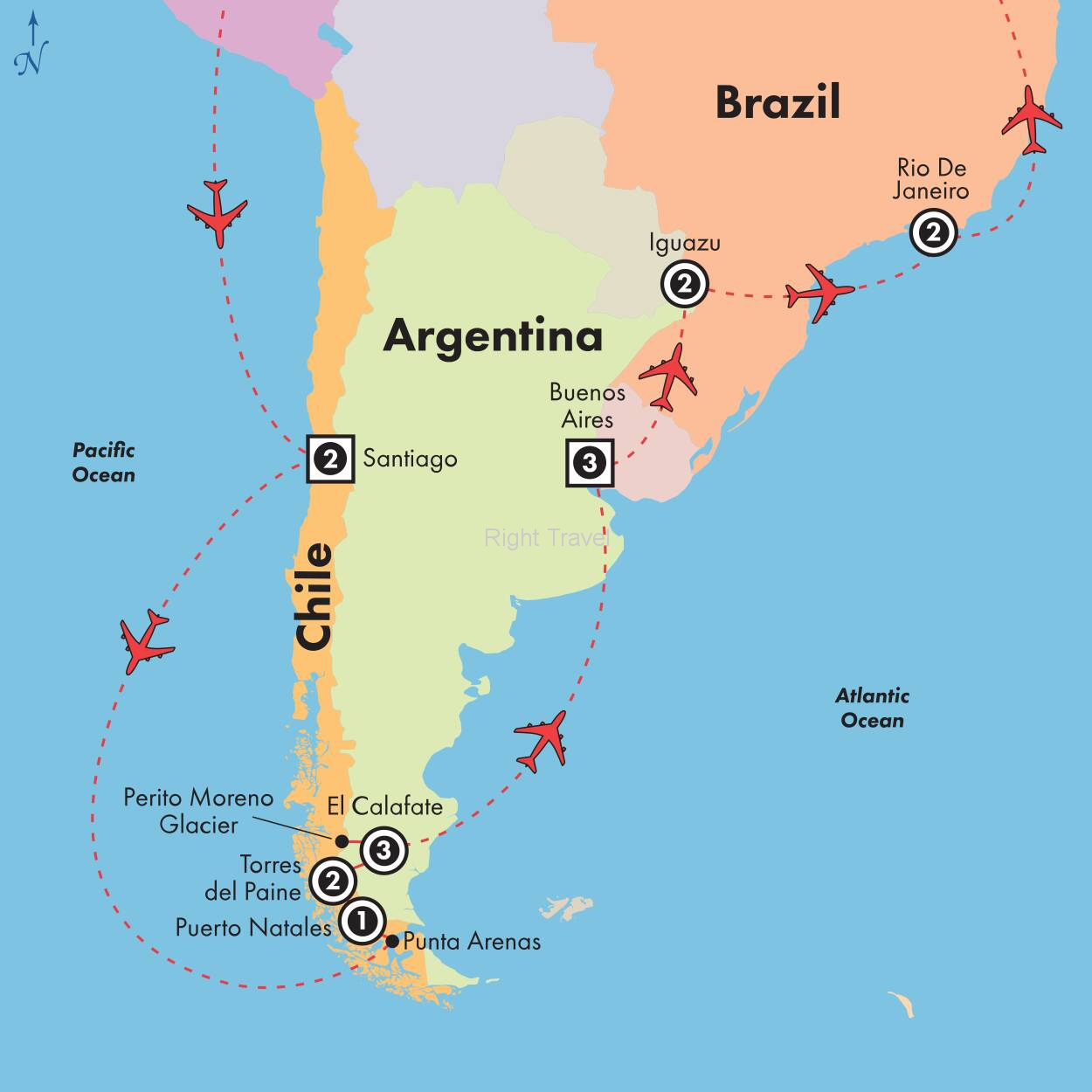 17 Day Chile, Argentina & Brazil with Patagonias Glaciers