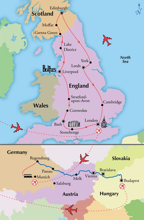17 Day England & Scotland with Danube River Cruise
