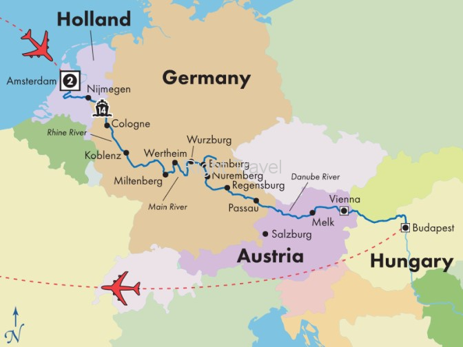 18 Day Classic European River Cruise with Amsterdam