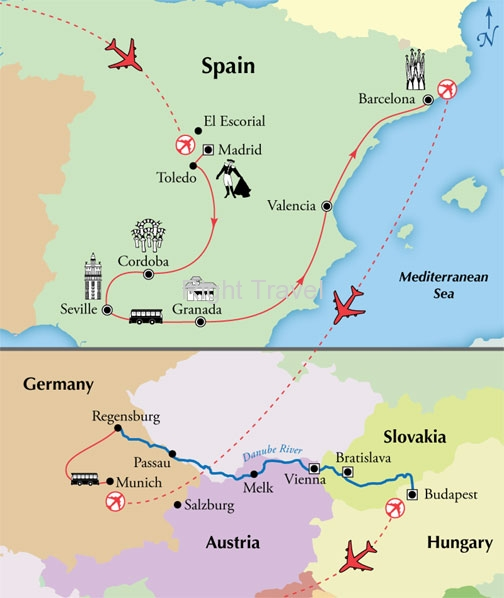 18 Day Spain with Danube River Cruise