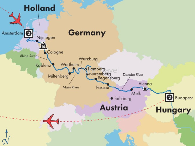 20 Day Classic European River Cruise with Amsterdam & Budapest