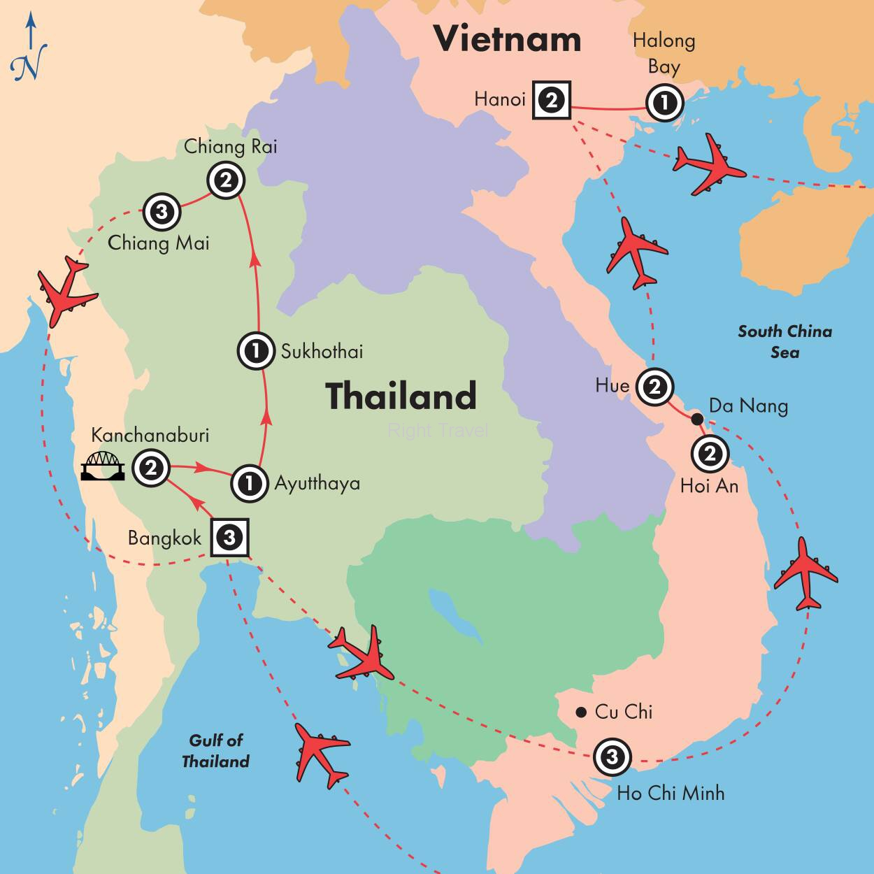 24 Day Kaleidoscope of Thailand & Vietnam