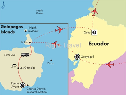 7 Day Galapagos Islands, Guayaquil & Quito