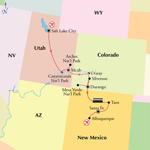 8 Day Canyonlands, Arches & Mesa Verde National Parks