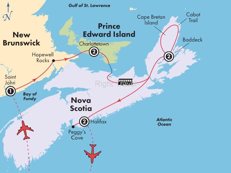 8 Day New Brunswick, Nova Scotia & Prince Edward Island