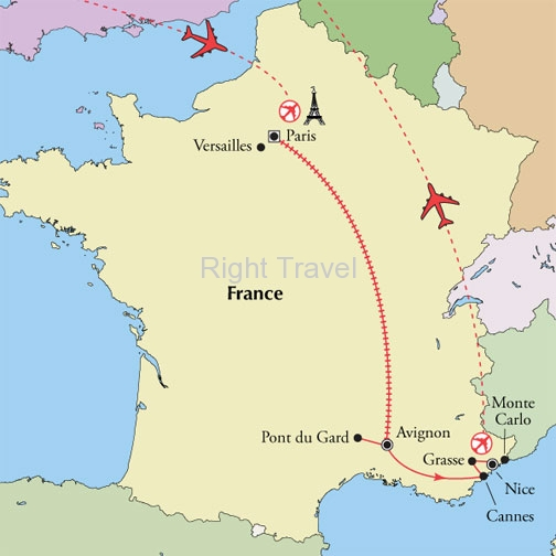 France Tour Packages with Guided Location Views