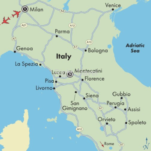 8 Day Tuscany Fly & Drive with Milan