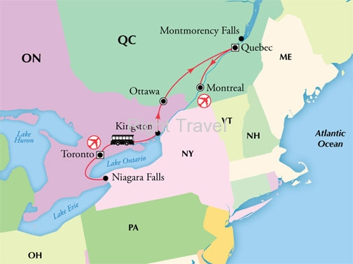 9 Day Canada with Toronto, French Quebec & Niagara Falls
