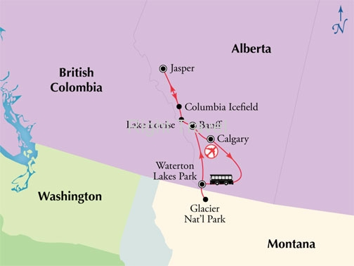 9 Day Canadian Rockies with Waterton Lakes