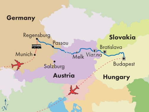 9 Day Danube Presidential River Cruise