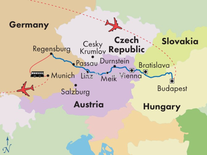9 Day Danube River Cruise Tour