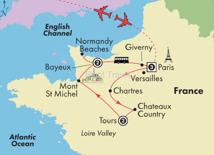Map Of France Giverny.France Tour Packages With Guided Location Views