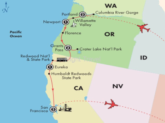 9 Day Pacific Northwest with Columbia River Gorge